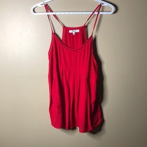 Madewell red tank blouse